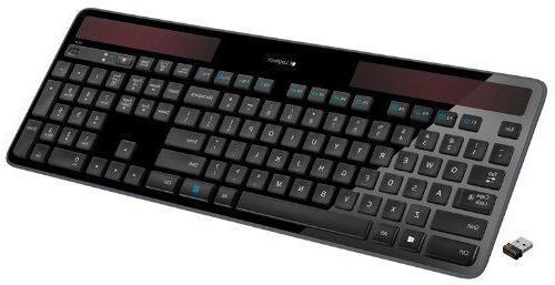 Logitech Wireless Solar Keyboard Recharging 2.4GHz Wireless- black