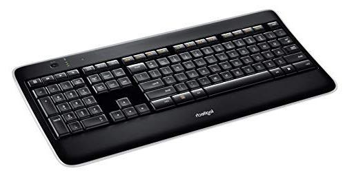 Logitech K800 Wireless Keyboard — Backlit Fast-Charging, 2.4GHz