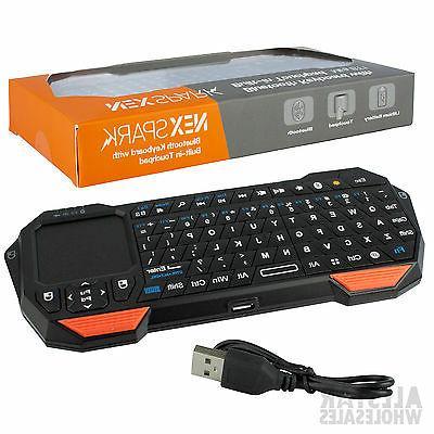 NEXspark Mini Portable Wireless BLUETOOTH Keyboard Mouse Tou