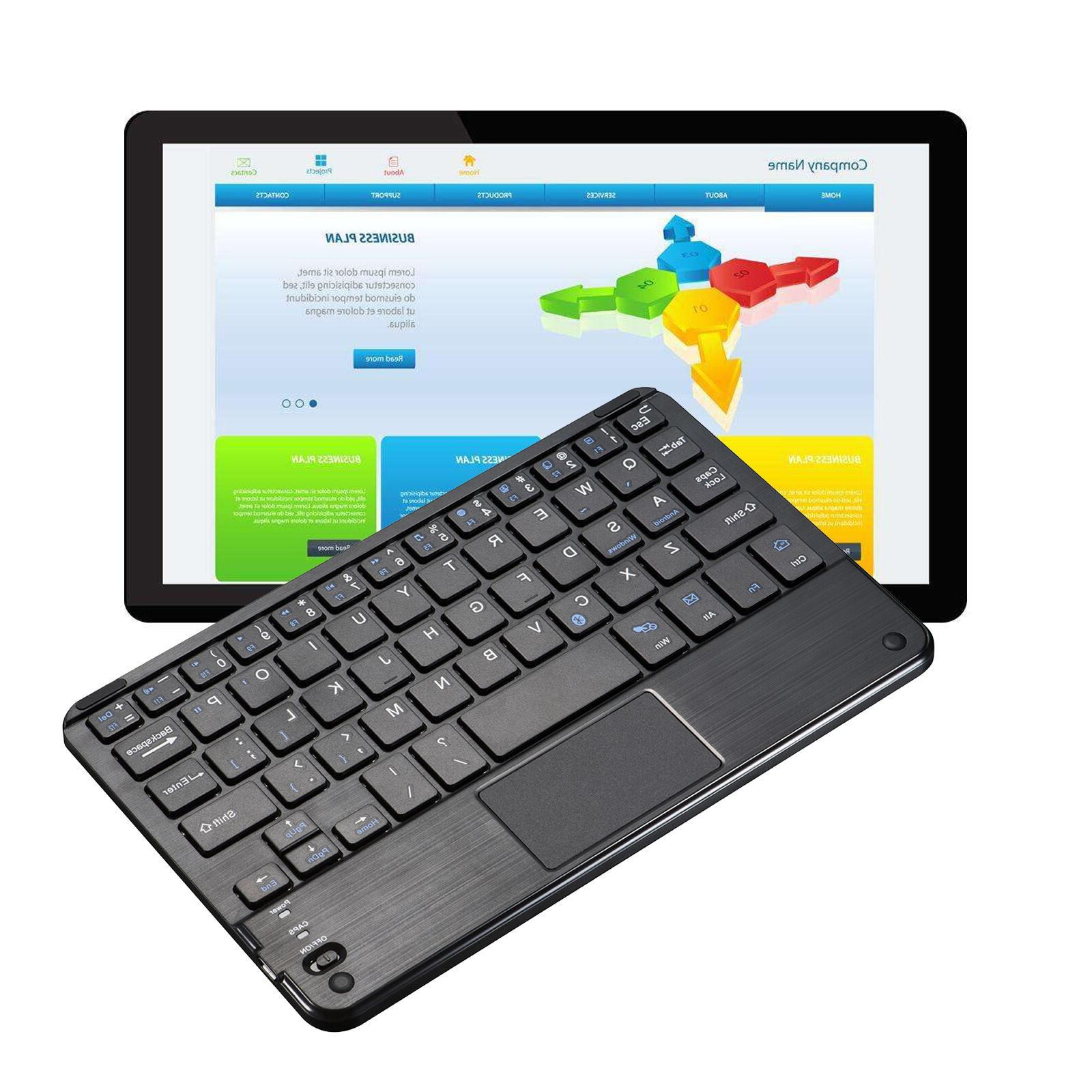 New Slim Mini Bluetooth Wireless Keyboard TouchPad For  Lapt