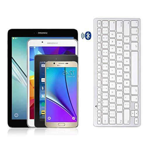 OMOTON Ultra-Slim Keyboard for Galaxy Tab Series, Galaxy Pro, Note 9/ Nexus and Bluetooth Enabled Devices, for Android,