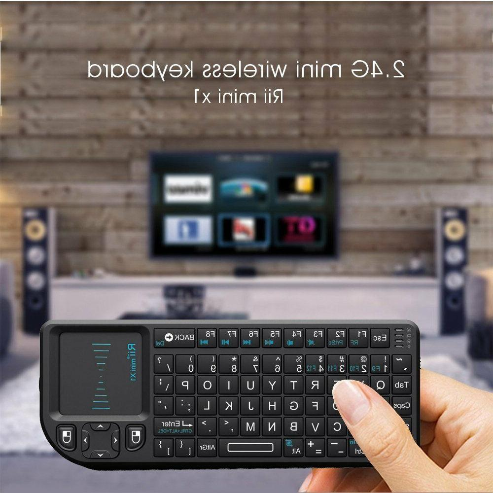 RII Mini X1 2.4GHz Wireless Keyboard with Mouse Touchpad and