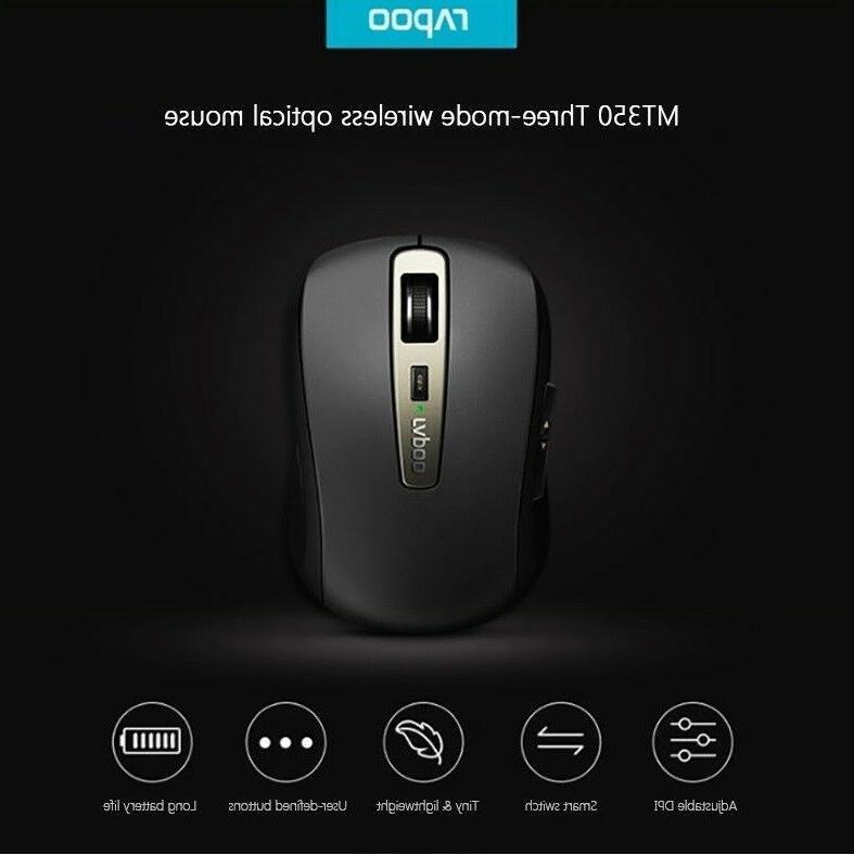 Rapoo Wireless Optical Mouse Bluetooth Mini Small Portable M