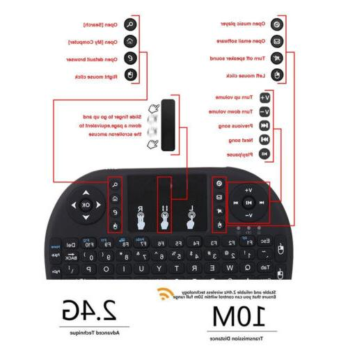 2.4G Backlit Keyboard Touchpad for TV Box Android PC