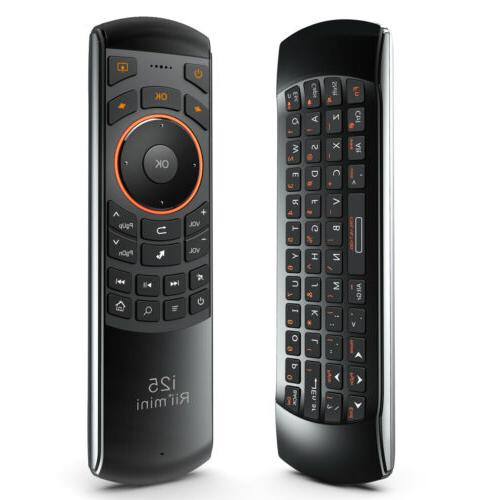 Remote Control Rii K25 wireless keyboard IR Learning combo for smart TV PC