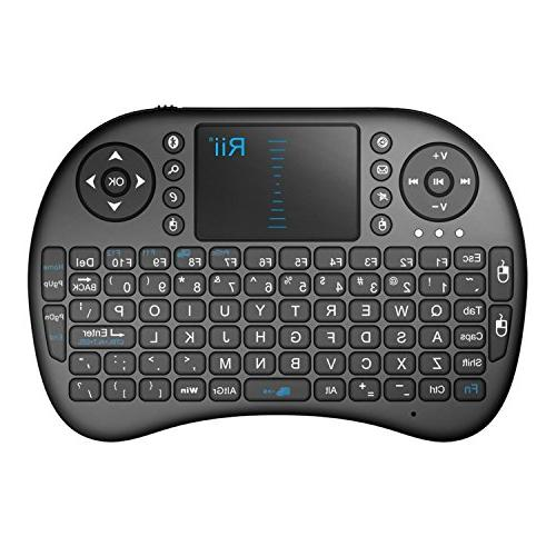 Rii Mini Bluetooth Wireless Touchpad Rechargable Keyboard Co