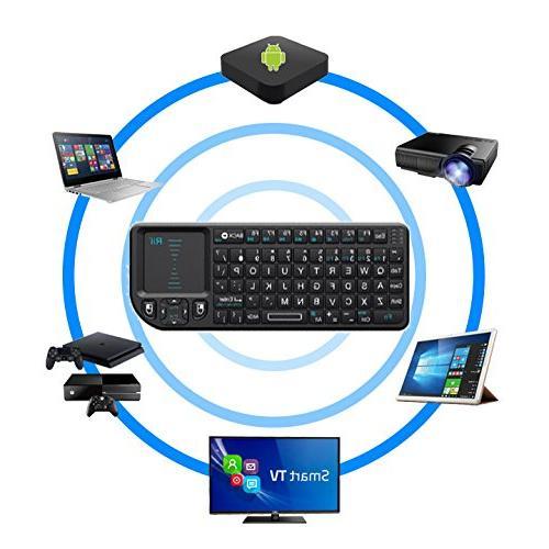 Rii Keyboard with Remote Control, Black