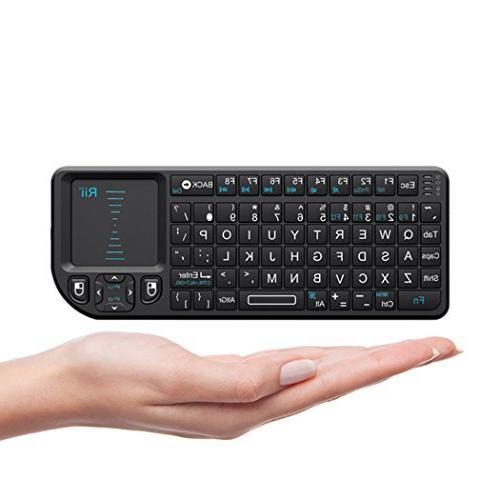 Rii Wireless 2.4GHz Keyboard Mouse Remote Black