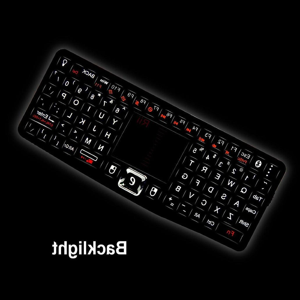 Rii Keyboard Mouse Combo Touchpad Remote Slim