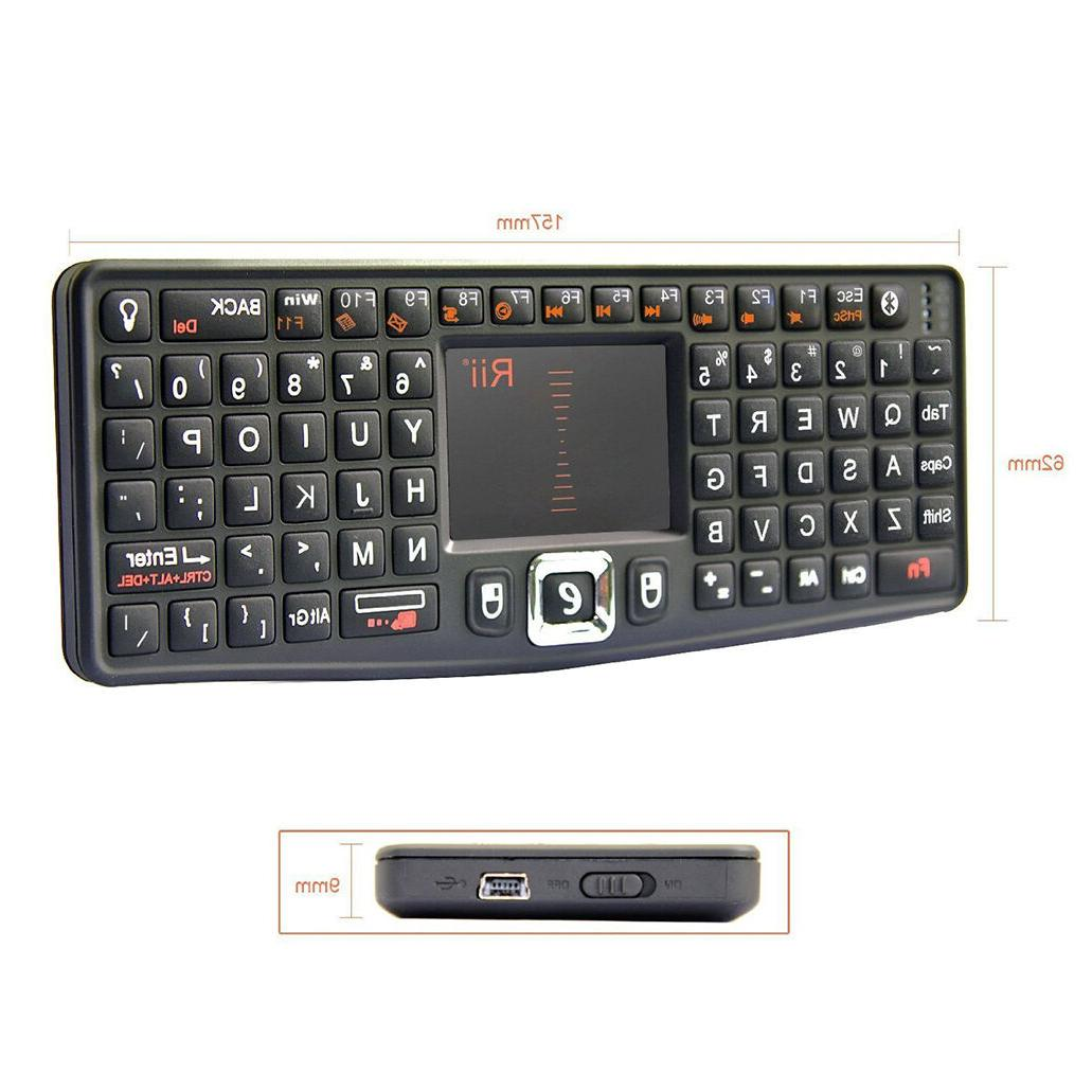 Rii N7BT Wireless Mini Keyboard Mouse Combo Touchpad Remote
