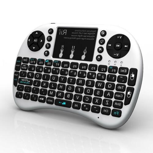 Rii i8+ Mini 2.4Ghz Wireless Keyboard Touchpad For Kodi Rasp