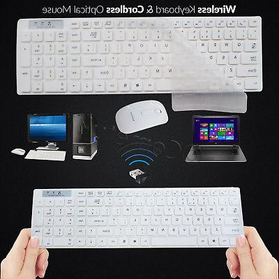 Slim 2.4GHz Wireless and Cordless Mouse Set For Desktop