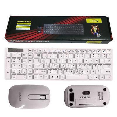 Slim and Cordless Mouse Set PC Laptop Desktop