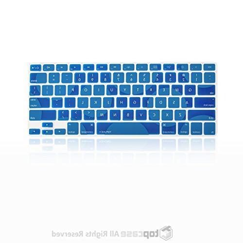 "TOP Dot Pattern Silicone Cover MacBook 13"" Unibody/Old MacBook 17"" or Retina - Royal"
