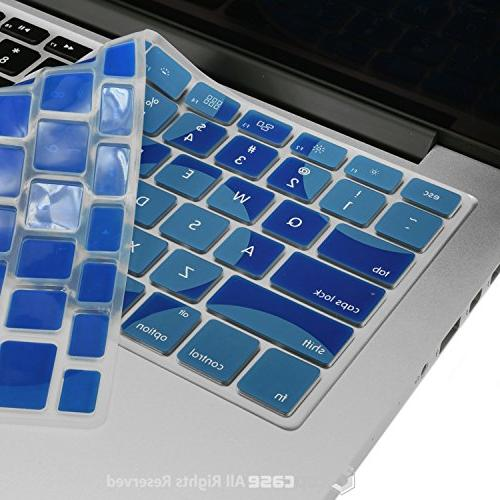 "TOP CASE Dot Pattern Cover Skin Compatible MacBook 13"" Unibody/Old MacBook 17"" Retina Display/Wireless Keyboard Royal"