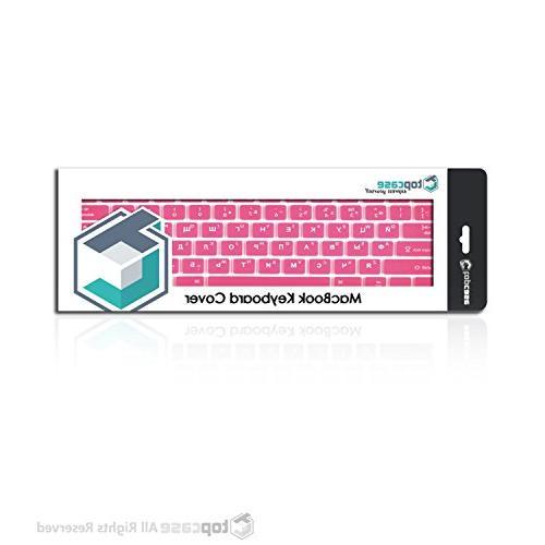 "TOP - Letter Keyboard Skin Compatible with Macbook Unibody/Old Generation Macbook 13"" 15"" Macbook Air / Keyboard Hot Pink"