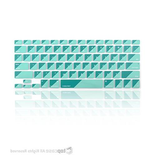 """TOP Series Silicone Keyboard Cover Skin with 13"""" or without Retina Keyboard Hot Blue/Aqua"""