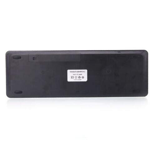 Thin 2.4G Keyboard with Smart Black