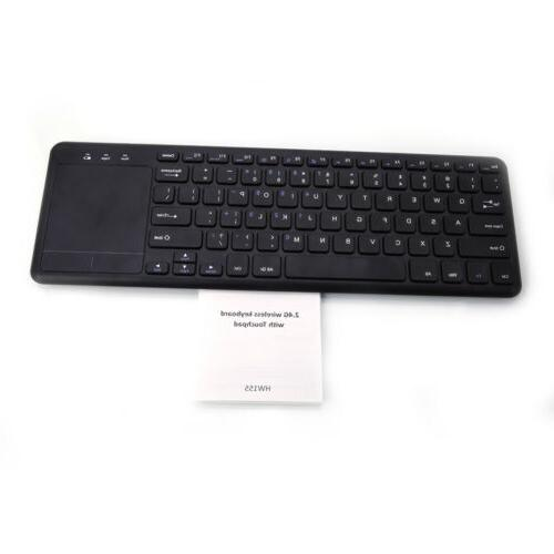 Thin Keyboard with Touchpad Smart Black