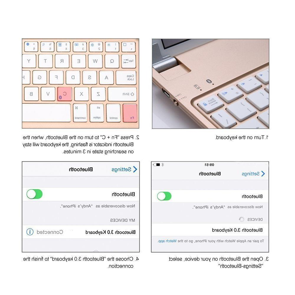Top Bluetooth Keyboard case Stand for iPad
