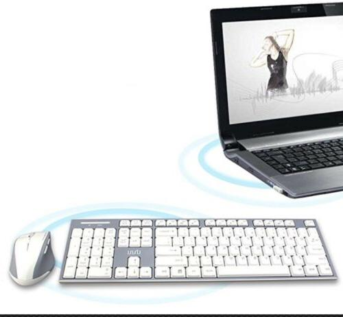 UHURU 2.4GHz Wireless Keyboard & Mouse Combo Compact Wireles