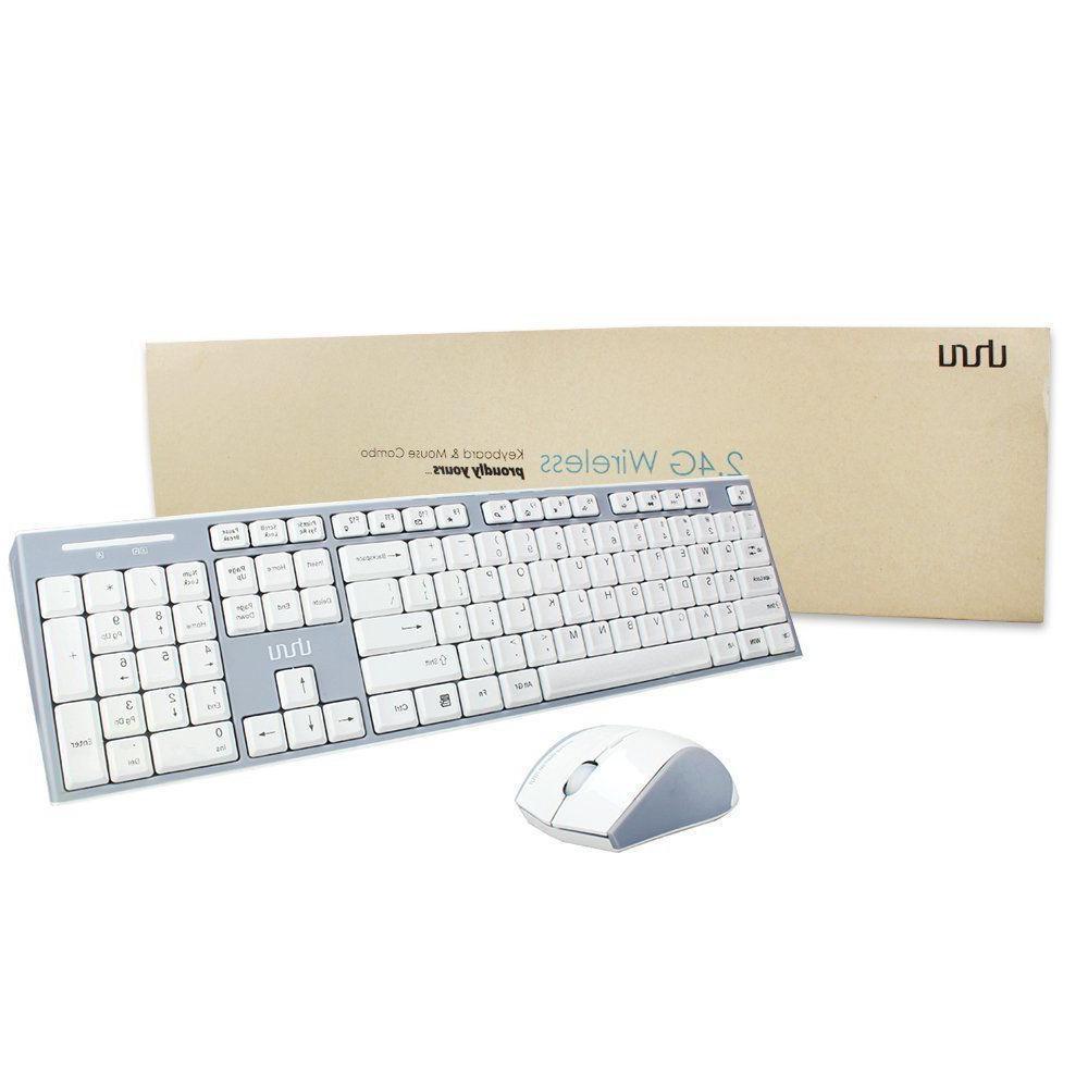 UHURU 2.4GHz Wireless Keyboard and Mouse Compact Wireless Ke