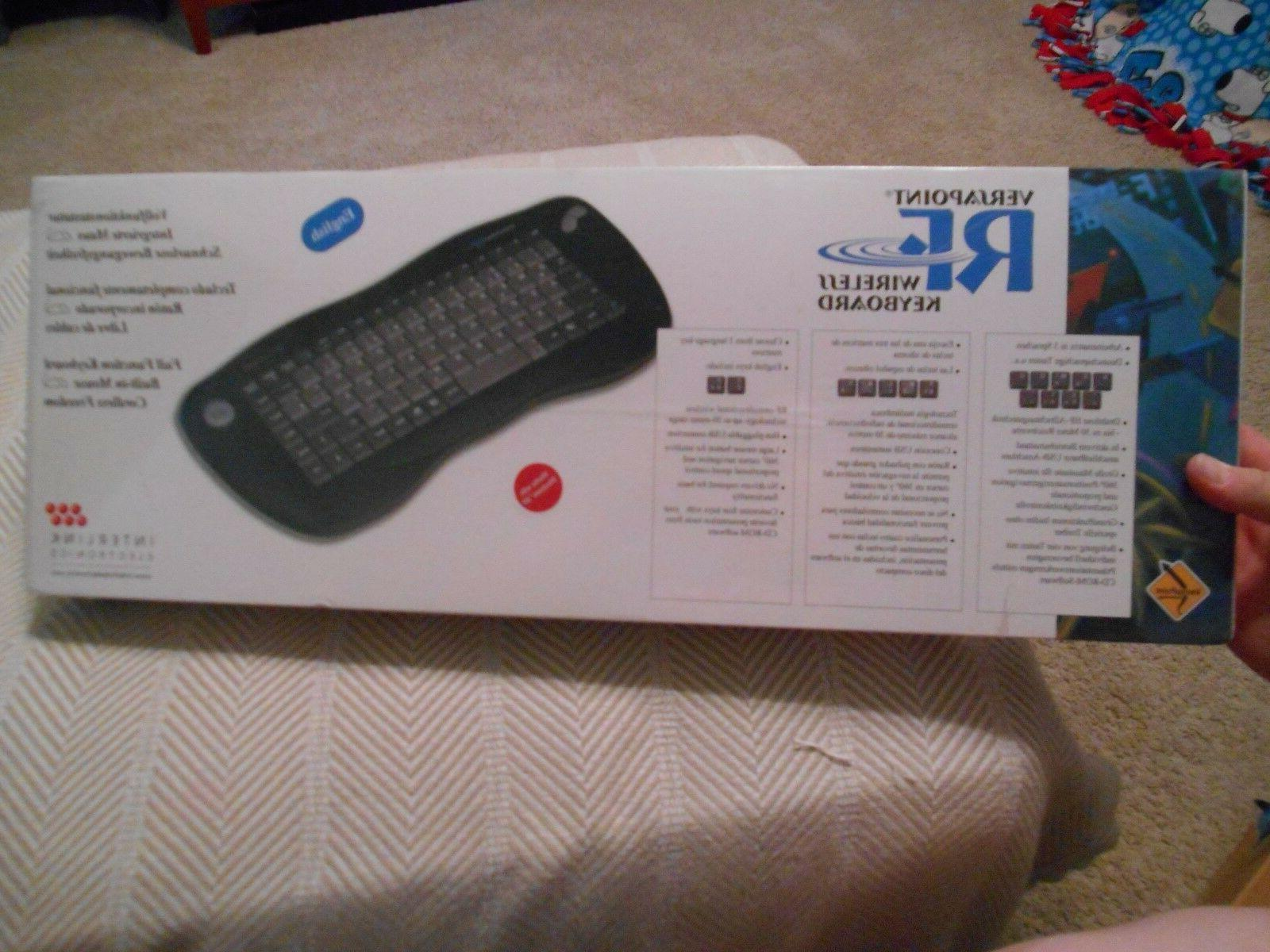 VersaPoint RF Wireless Keyboard, NEW in box, Interlink Elect