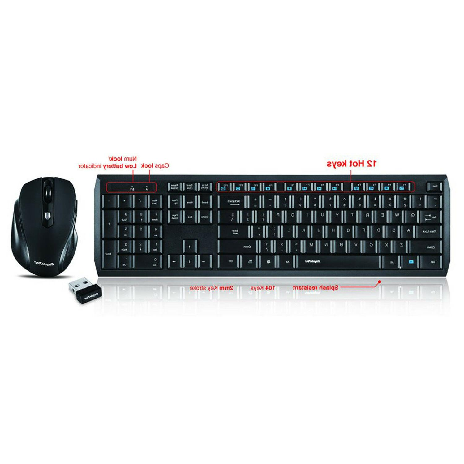 Wireless Keyboard Mouse Combo Desktop