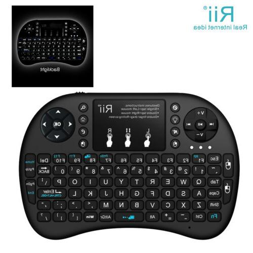 With i8+ Wireless Keyboard for Smart TV TV