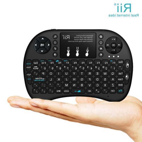 With BACKLIGHT Rii Mini i8+ Wireless Keyboard  for Smart TV