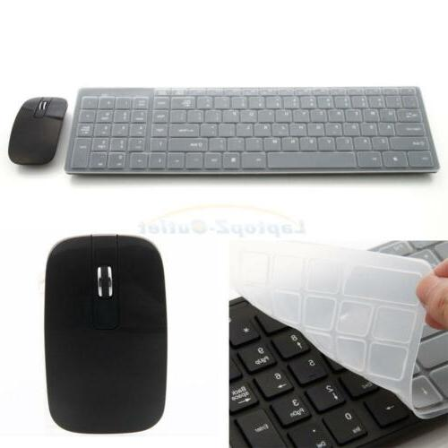 New ABS 1600DPI 2.4G Mouse Keyboard Laptop