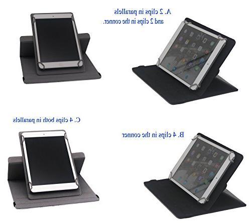 Tsmine 7 Universal Detachable Wireless 360 Case Cover , Under the Stars/White