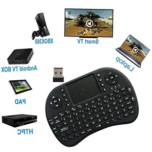 ANEWKODI Multi-media Portable Wireless Mini Keyboard with Mouse for PC