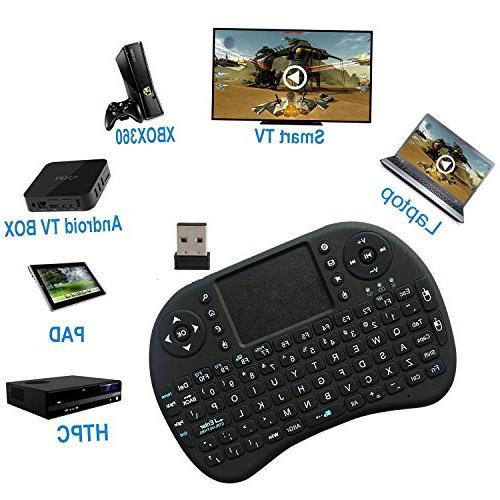 ANEWKODI Multi-media Portable Wireless Mini Keyboard with Mouse for PC