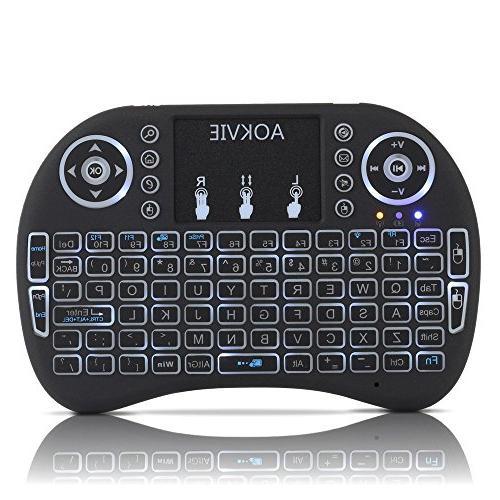 aokvie mini backlit wireless touchpad