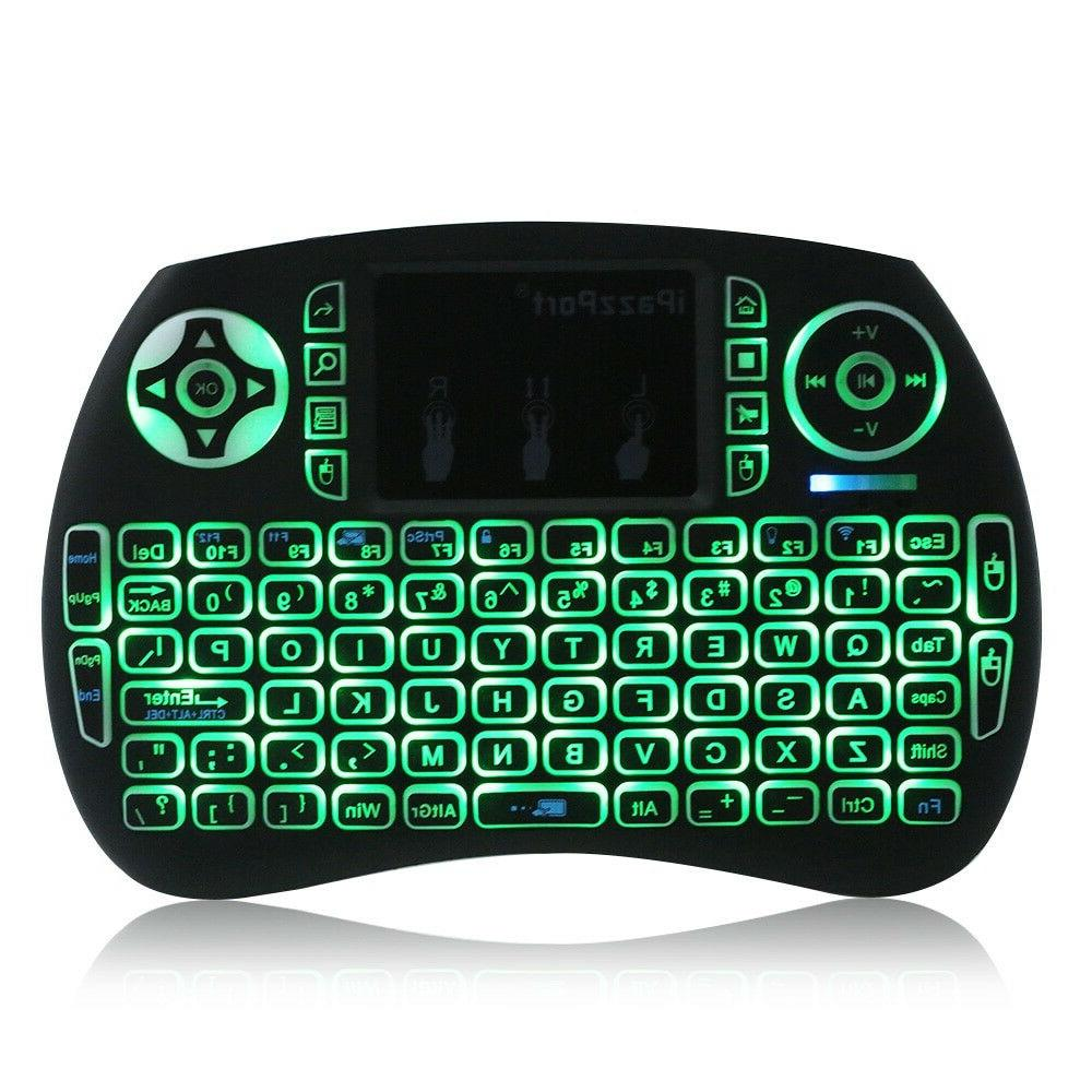 BACKLIGHT Mini Wireless Keyboard i8 Touchpad for TV PC
