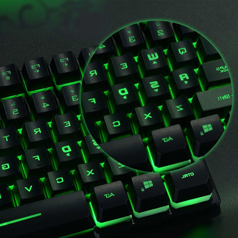 Backlit Keyboard Gaming Computer Illuminated Colors
