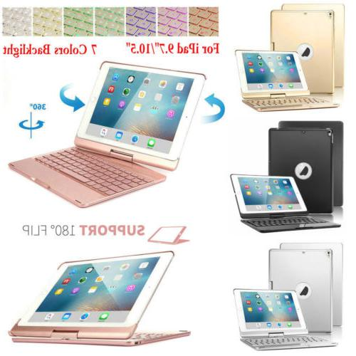 "Backlit Wireless Keyboard 360 Case Cover For iPad 9.7"" 2018/"