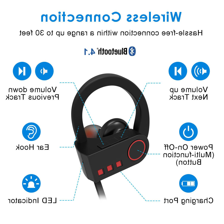 JETech Bluetooth Headphones Sport Wireless Earphones HD Stereo