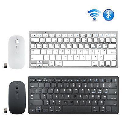 US 3.0 Bluetooth Keyboard + Wireless 2.4G Mouse Mice Combo f