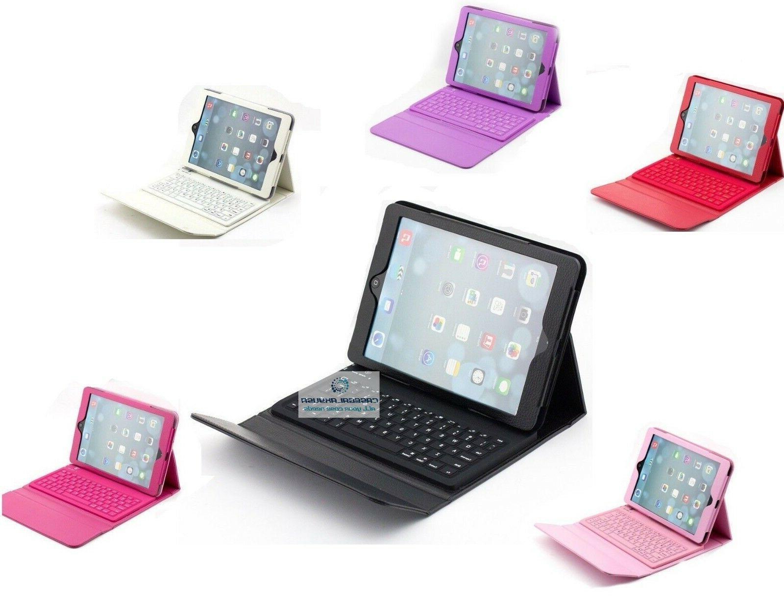 bluetooth wireless cordless keyboard leather case
