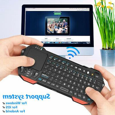 BT05 Mini Bluetooth Wireless Keyboard w/Backlit Touchpad for