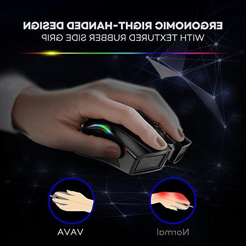 VAVA with Color Mechanical Mouse with Ergonomic Right Design