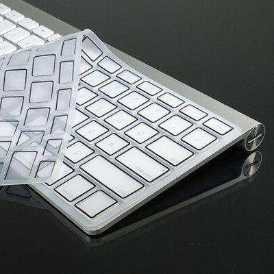 "CLEAR Silicone Keyboard Cover Skin for New Mcbook pro 15"" wi"