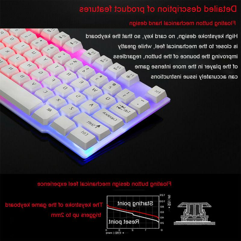 Colorful Crack Backlit Wired Rainbow Gaming