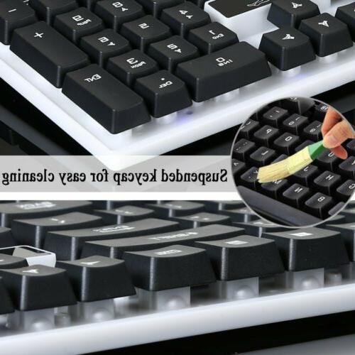 Computer Desktop and Mouse Mechanical Feel Led