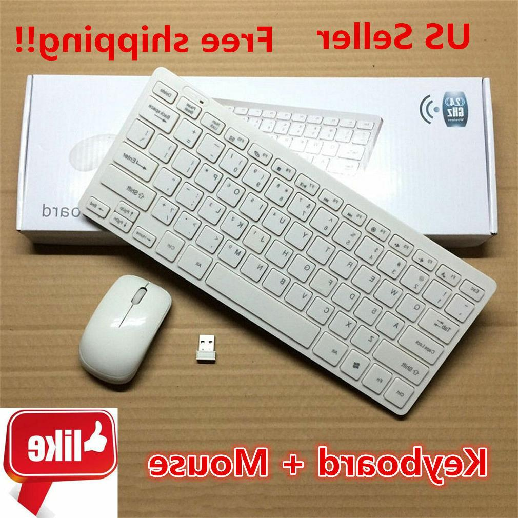 Wireless Keyboard And Mouse Combo Set 2.4G For Pc Mac Apple