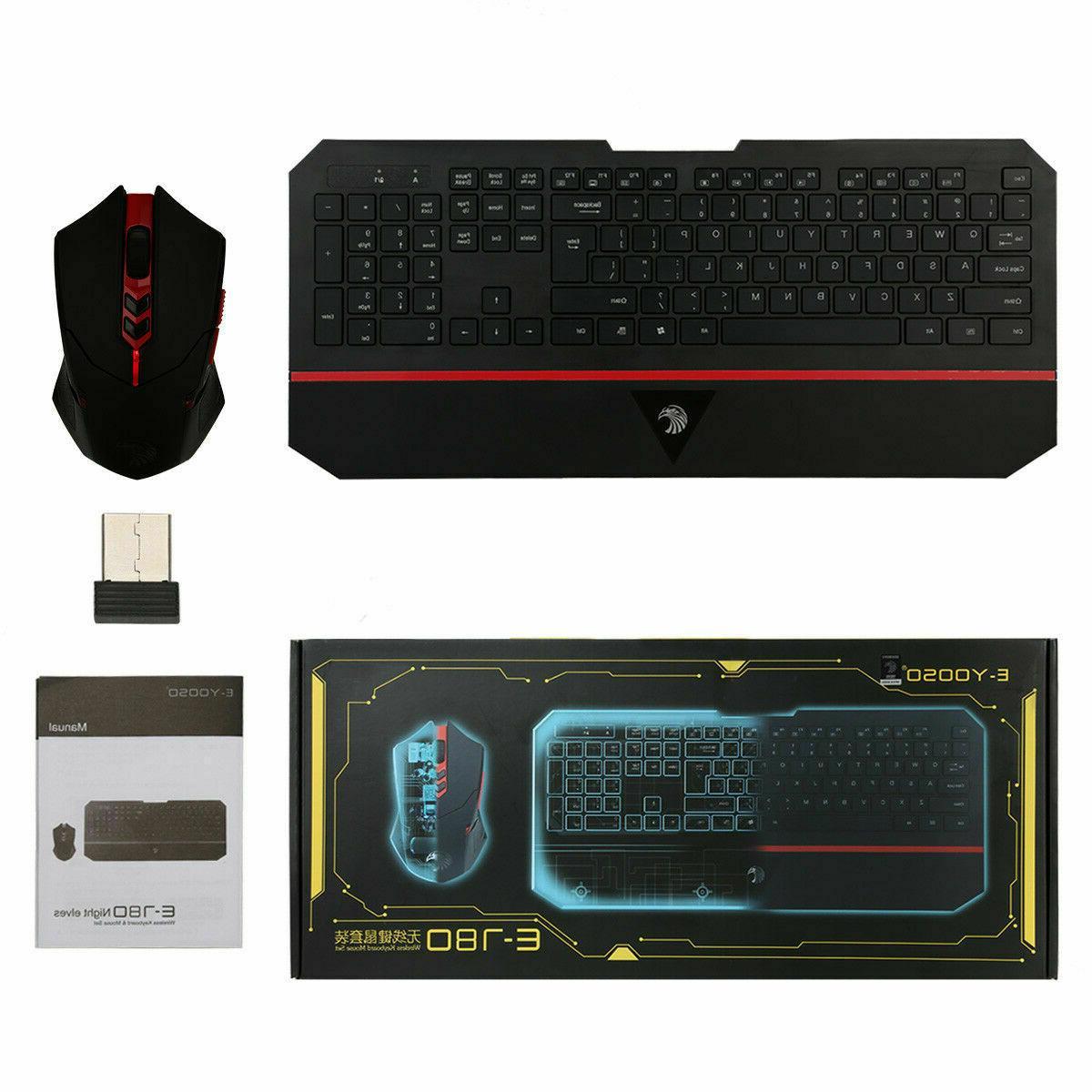 E-780 2.4GHz Wireless Gaming Keyboard Bundles