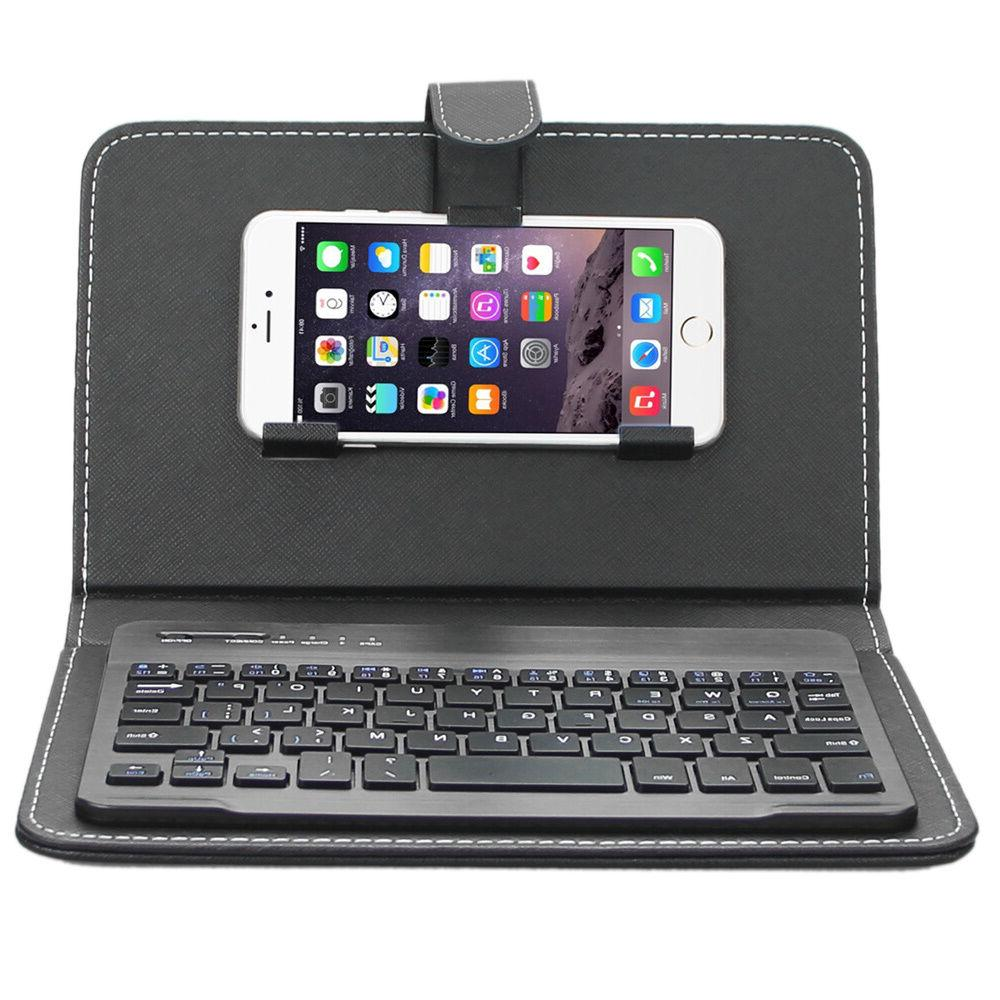 ENKAY Wireless Bluetooth Keyboard Leather Case for iPhone 6s