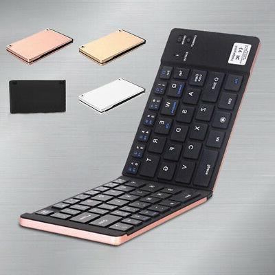 Foldable- Pocket Bluetooth Wireless Keyboard for iPhone Pad